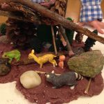 Woodland habitats with playdough